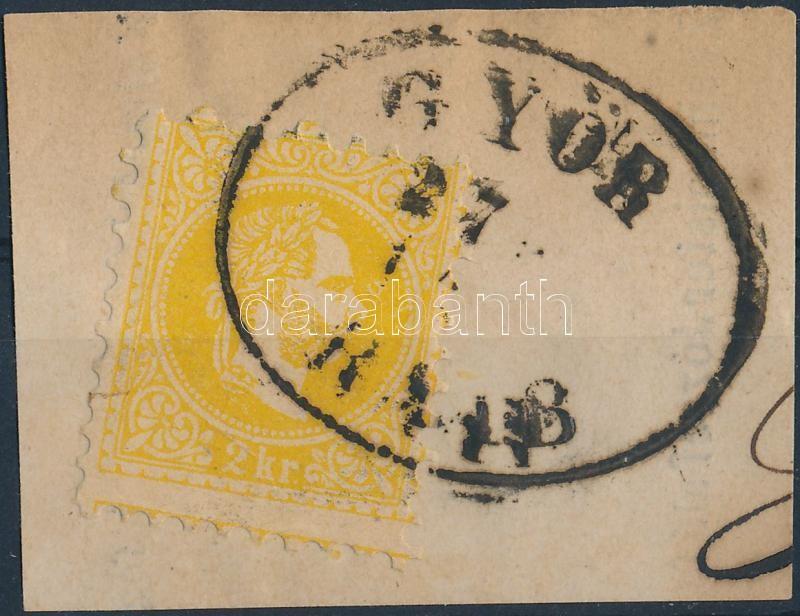 """Austria-Hungary-classic postmark """"GYŐR / RAAB"""" """"GYŐR / RAAB"""""""