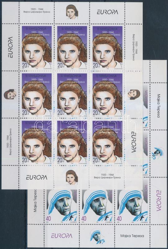 Europa CEPT, híres nők kisív sor, Europa CEPT, Famous Women mini sheet set
