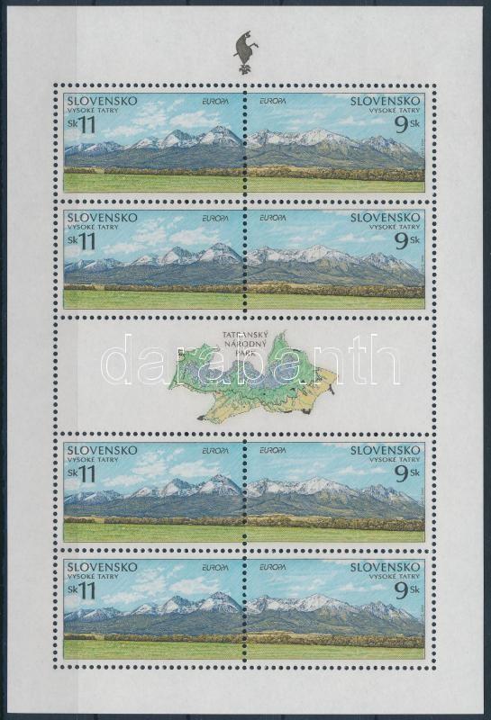 Europa CEPT, nature and national parks mini sheet, Europa CEPT, természet és nemzeti parkok kisív