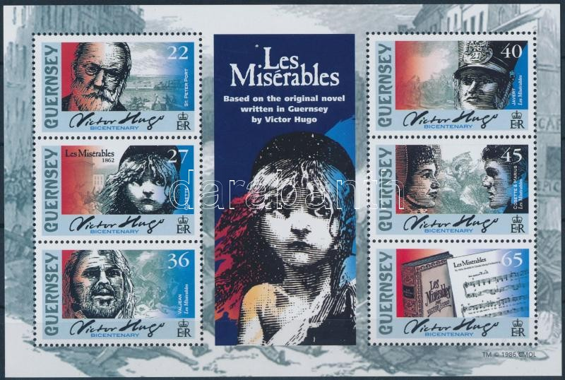 Victor Hugo block, Victor Hugo születésének 200. évfordulója blokk
