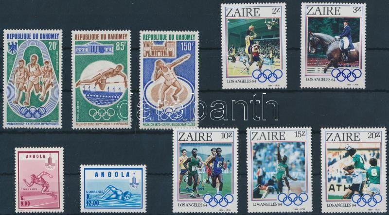 1972-1984 Olympics 3 diff sets 1972-1984 Olimpia motívum 3 klf sor