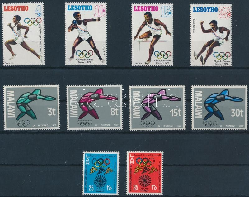 Olympics 3 diff sets, Olimpia motívum 3 klf sor