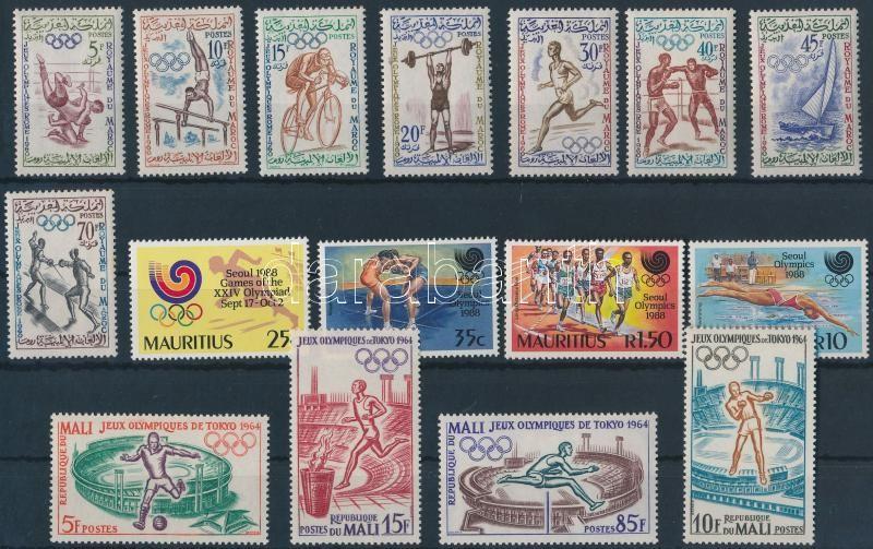 1960-1988 Olympics 3 diff sets 1960-1988 Olimpia motívum 3 klf sor