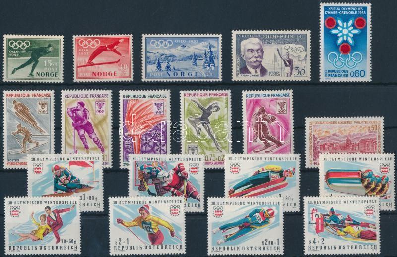 1952-1975 Olympics 2 diff stamps + 4 diff sets, Olimpia motívum 1952-1975 2 klf bélyeg + 4 klf sor