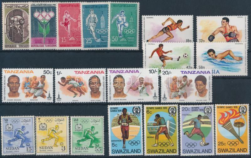 1960-1980 Olympics 5 diff sets, 1960-1980 Olimpia motívum 5 klf sor