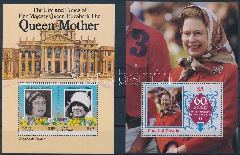 1985-1986 Queen Elizabeth II 2 diff blocks, 1985-1986 II. Erzsébet királynő 2 klf blokk