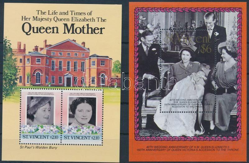 1985-1987 II. Erzsébet királynő 2 klf blokk, 1985-1987 Queen Elizabeth II 2 blocks