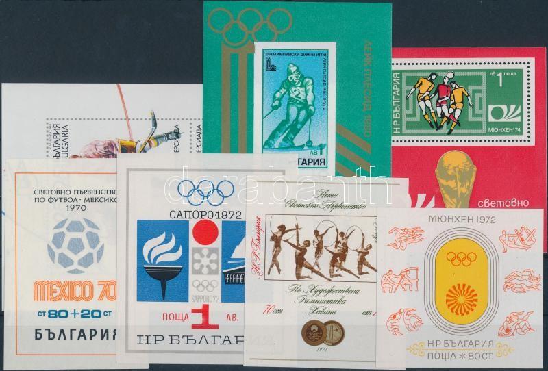 1970-1989 Sport 7 blocks, 1970-1989 Sport motívum 7 klf blokk