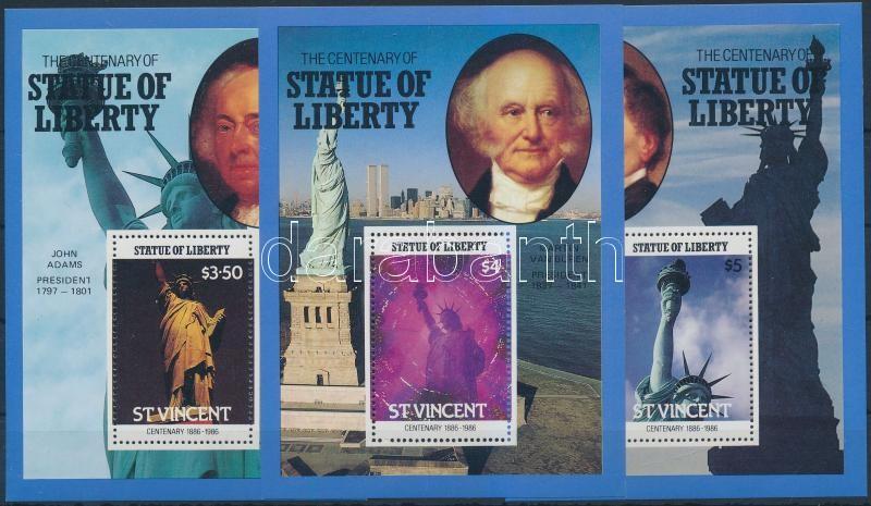 Statue of Liberty, New York block set, 100 éves a szabadságszobor, New York blokksor