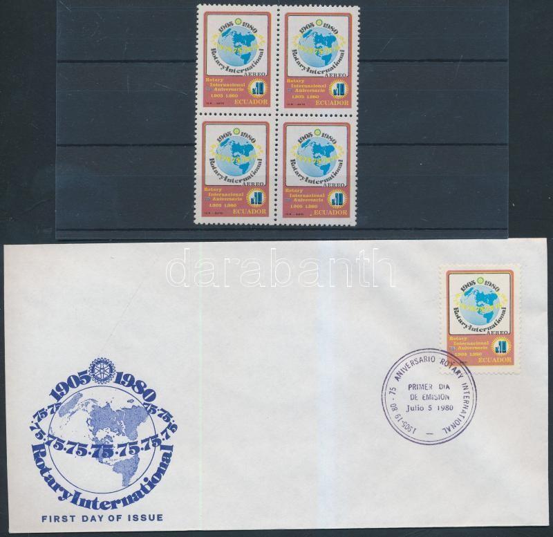 Rotary block of 4 + FDC, Rotary négyestömb + FDC
