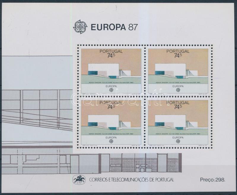 Europa CEPT, modern architecture block Europa CEPT, modern építészet blokk