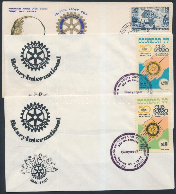 Rotary 6 diff FDC, Rotary motívum 6 klf FDC