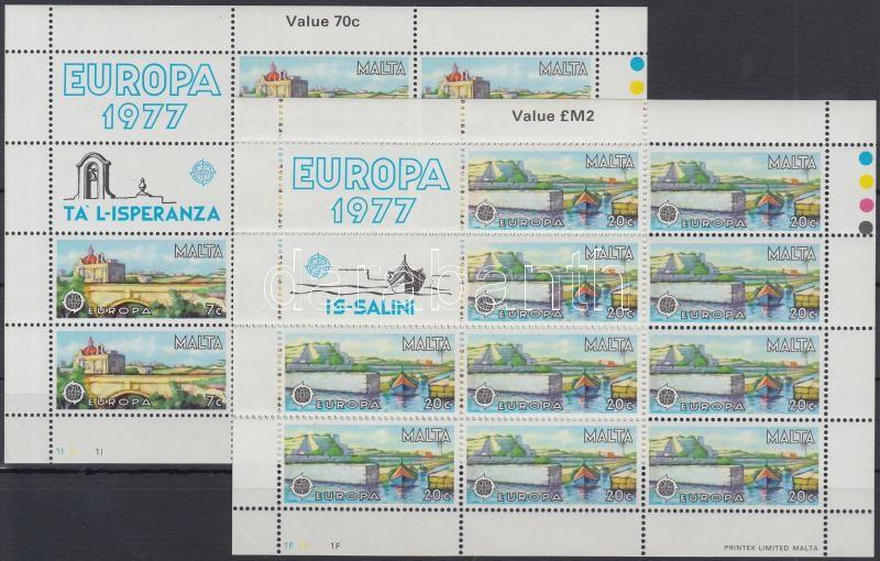 Europa CEPT, Landscapes mini sheet set, Europa CEPT, tájak kisívsor
