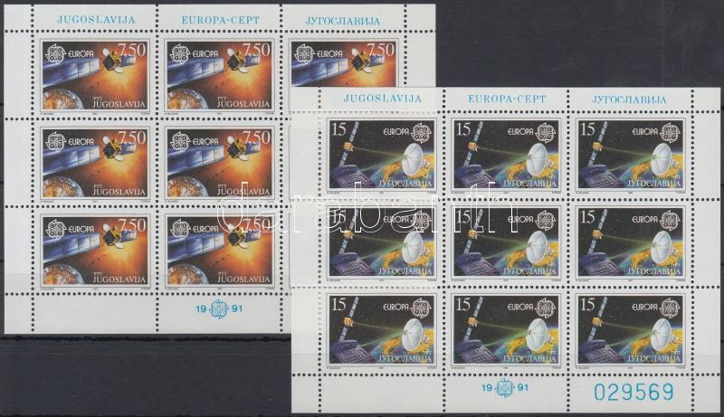 Europa CEPT, Space mini sheet set, Europa CEPT, űrkutatás kisívsor