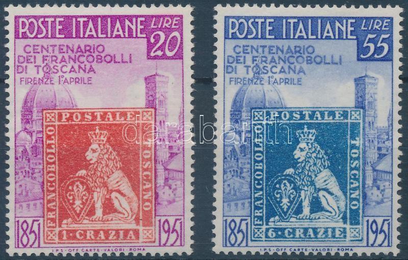 Centenary of Toscana stamp set (partly yellowish gum), 100 éves a toscaniai bélyeg sor (részben kissé sárgult gumi)