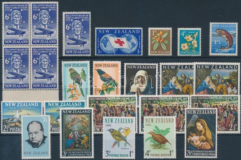 1958-1966 14 stamps, 3 diff sets, 1 block of 4, 1958-1966 14 db bélyeg, 3 klf sor és 1 db négyestömb