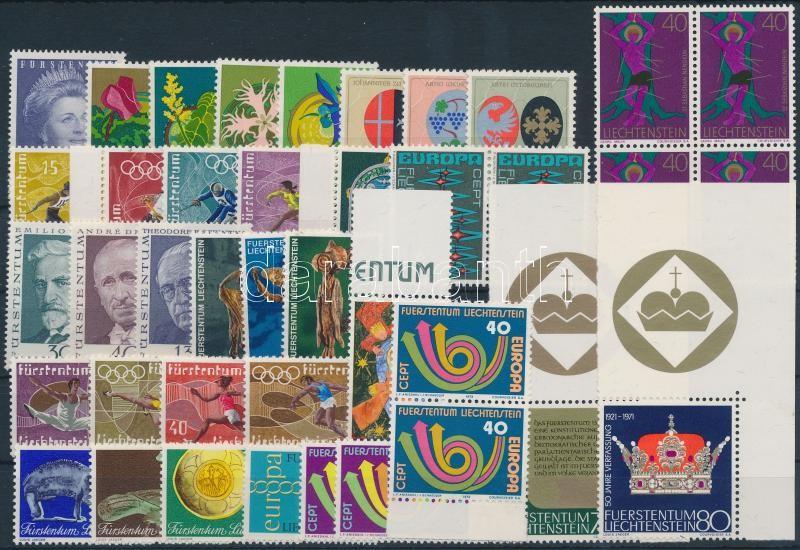 1971-1973 41 stamps with sets, 1971-1973 41 db bélyeg, közte teljes sorok és összefüggések