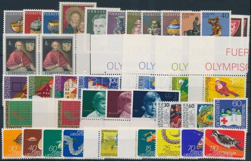 1973-1975 40 stamps, 1973-1975 40 db bélyeg, közte teljes sorok, összefüggések, ívsarki és ívszéli értékek