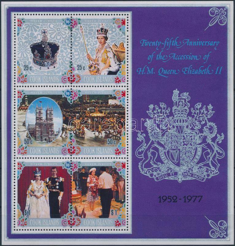 Queen Elizabeth II block, II. Erzsébet királynő uralkodásának 25. évfordulója blokk