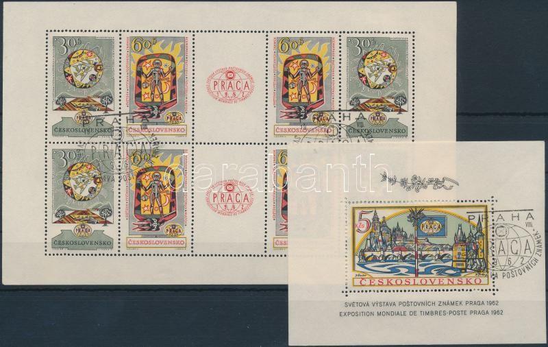 Stamp Exhibition mini sheet + block, Bélyegkiállítás kisív + blokk