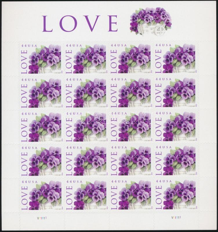 Üdvözlő bélyeg öntapadós kisív, Greeting stamps self-adhesive minisheet