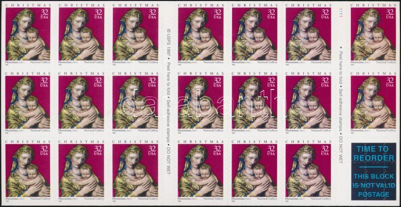 1998 Karácsony öntapadós bélyegfüzet MH 48 (Mi 3050)