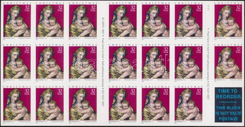 Christmas self-adhesive stamp booklet, Karácsony öntapadós bélyegfüzet