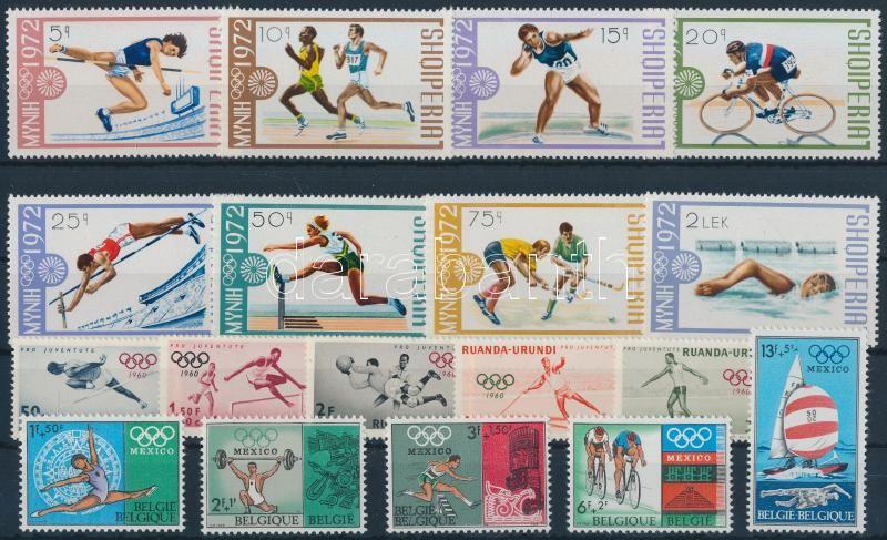 Olympics 11 diff sets, Olimpia motívum 11 klf sor 2 stecklapon