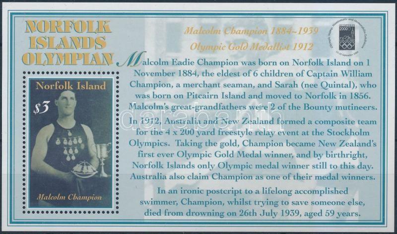 OLYMPHILEX 2000 Stamp Exhibition block, OLYMPHILEX 2000 bélyegkiállítás blokk