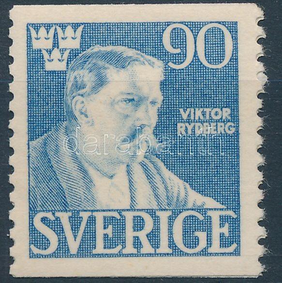 Viktor Rydberg's death closing stamp, Viktor Rydberg halála záróérték