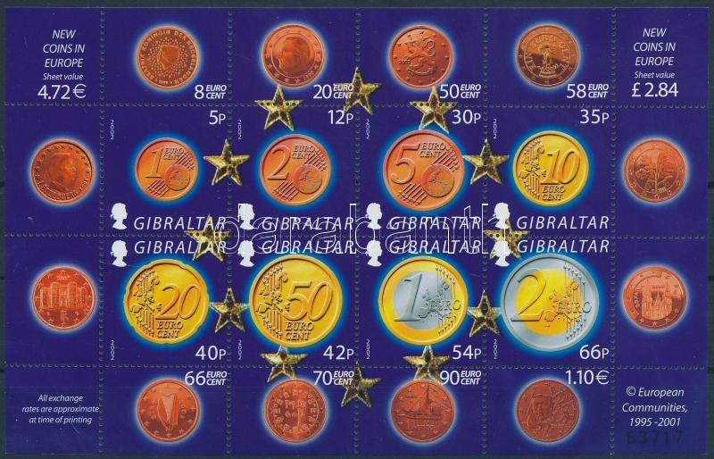 Introduction of the Euro mini sheet, Az Euro bevezetése kisív