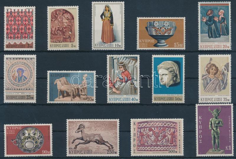 Definitive stamps, art set, Forgalmi bélyegek, művészet sor
