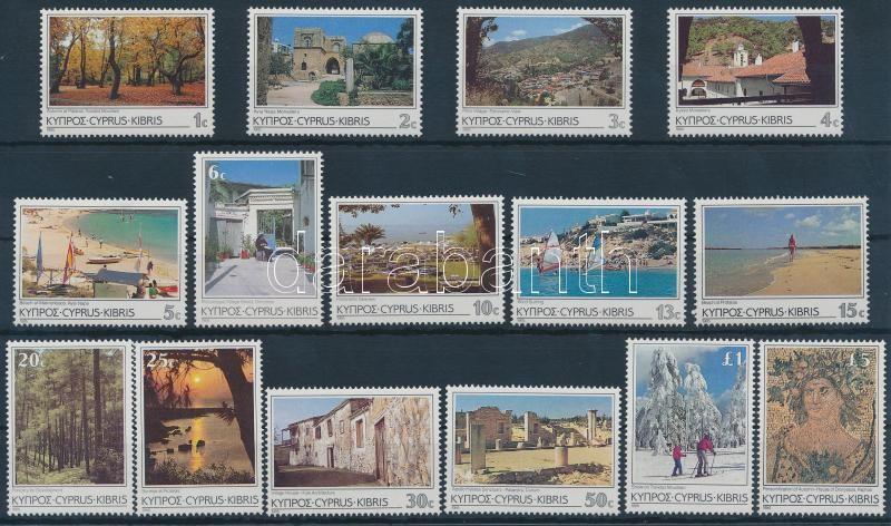 Definitive stamps, tourism set, Forgalmi bélyegek, turizmus sor
