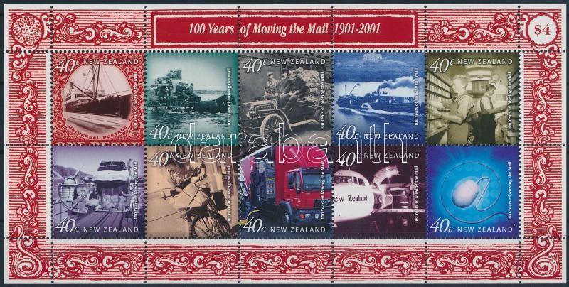 Postal vehicles in the 20th century mini sheet, Postai járművek a 20. században kisív