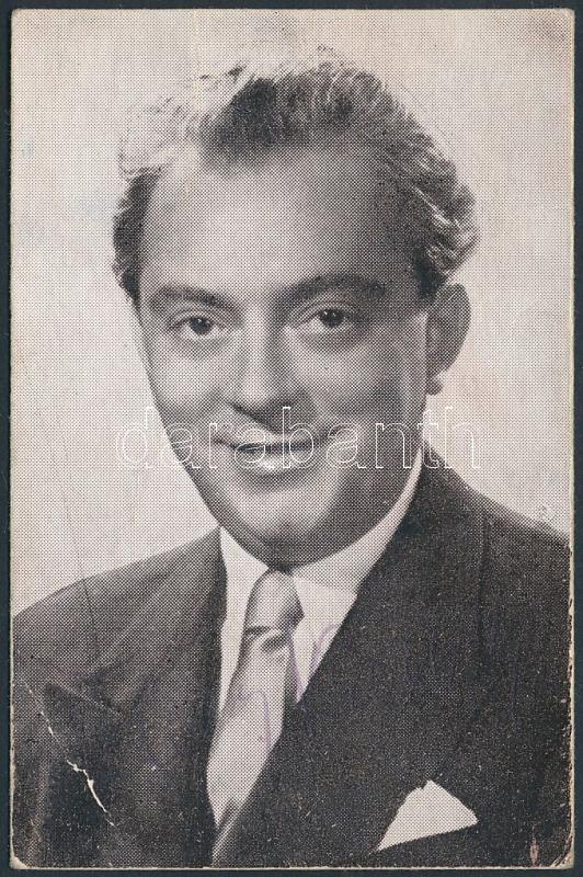 Feleki Kamill (1908- 1993) Kossuth-díjas színművész, táncos, koreográfus, érdemes és kiváló művész halványan látszódó aláírása egy a művészt ábrázoló fotón, apró hibával