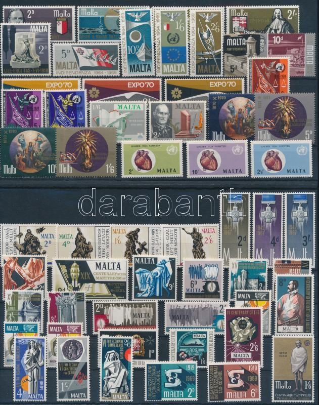1967-1972 55 stamps, 1967-1972 55 klf bélyeg közte teljes sorokkal (2 db stecklapon)
