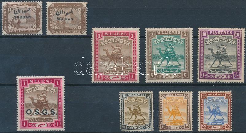 1897-1921 8 klf (9 db) bélyeg, 1897-1921 8 diff (9 pcs) stamps