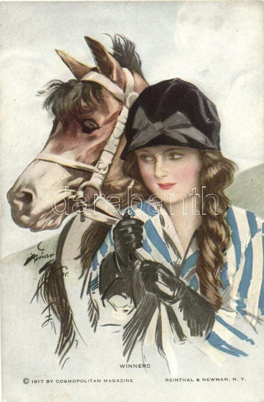 Картинки для декупажа женщина с лошадью