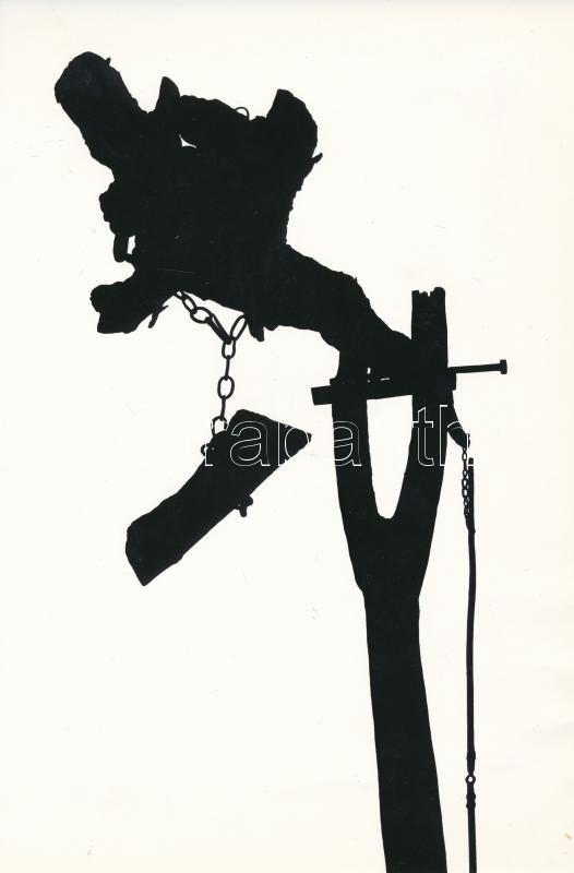 1968 Bieder Géza: Emlék a múltból, feliratozott vintage fotóművészeti alkotás, 24x16 cm