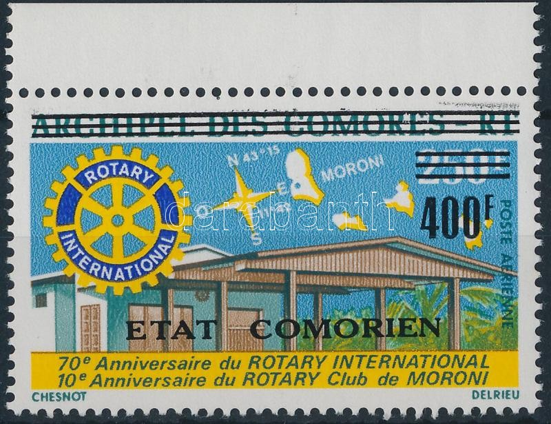 Rotary stamp with overprint, Rotary bélyeg felülnyomással