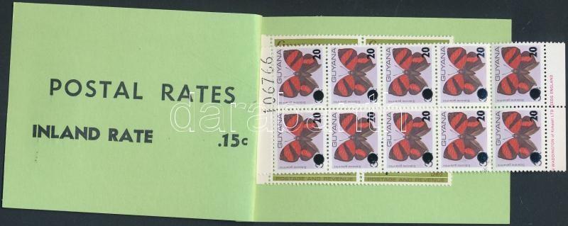 Definitive stamp-booklet, 1981/1982 Forgalmi, Lepke, Hal bélyegfüzet