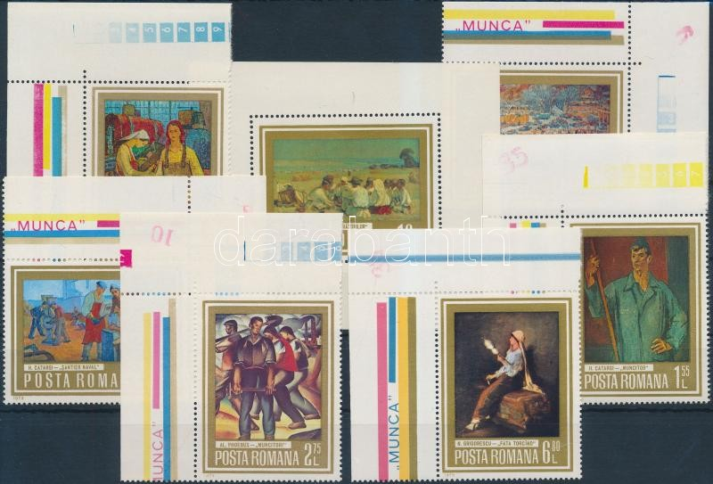 Festmény ívsarki sor + blokk, Paintings corner set + block