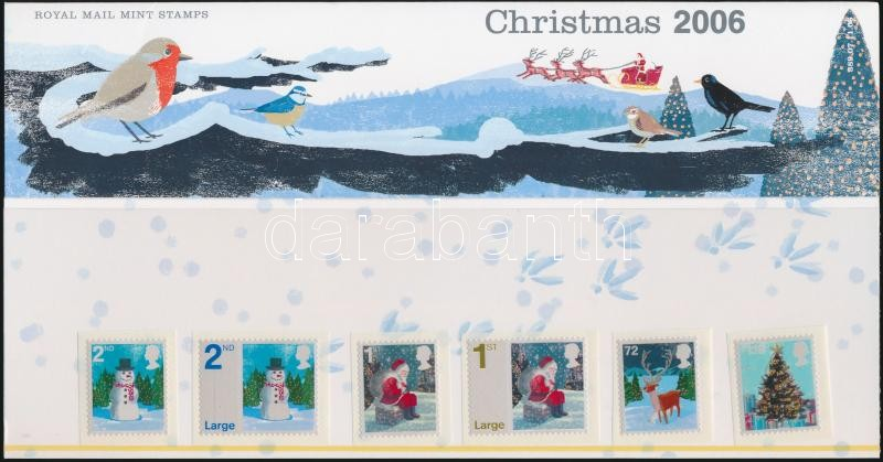 Christmas self-adhesive set in decorative holder, Karácsony öntapadós sor díszcsomagolásban
