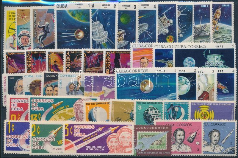1963-1974 Space Research 2 stamps + 8 sets, 1963-1974 Űrkutatás motívum 2 klf bélyeg + 8 klf sor