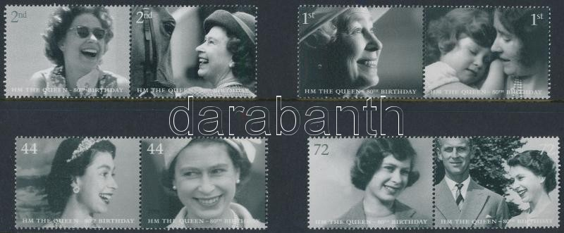 Elizabeth II. 80th birthday 4 pairs, II. Erzsébet 80. születésnapja 4 pár