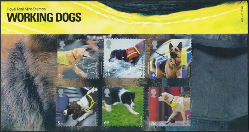 Europa CEPT Working Dogs set in holder, Europa CEPT Munkakutyák sor díszcsomagolásban