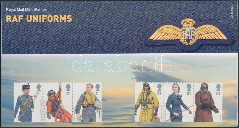 The Royal Air Force uniforms 2 stripes of 3 in holder, A Királyi Légierő egyenruhái 2 db hármascsík díszcsomagolásban