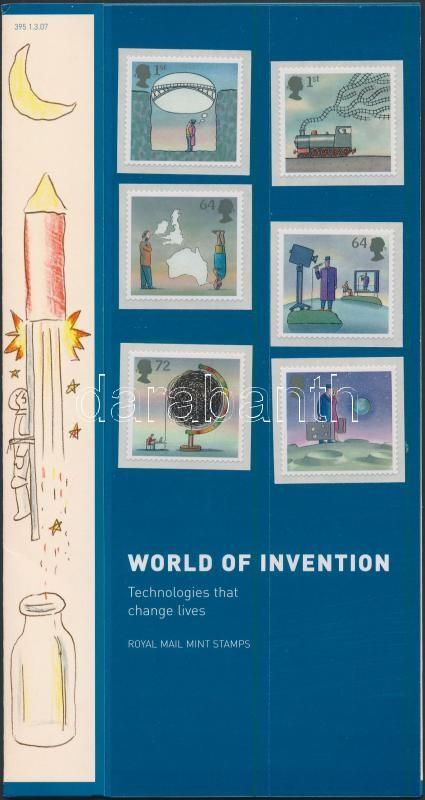 Inventions set in holder, Találmányok sor díszcsomagolásban