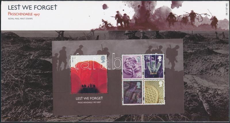 World War I anniversray block in holder 90 éve ért véget az I. világháború blokk díszcsomagolásban