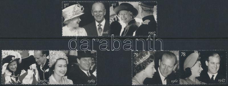 Royal Couple 3 sets A királyi pár 60. Házassági évfordulója 3 pár